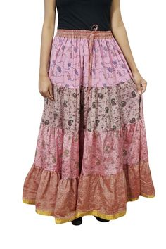 Long  Silk Saree Night Gown Women/'s Beach Cover Up Halter Vintage Boho Gypsy Silk Saree Skirt Bohemian Casual Top Skirt Handmade Ethnic Blue