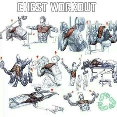 Chest workout.