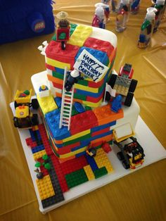 Carter's Lego birthday cake,