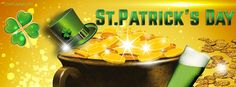Pot of Gold St. Patrick's Day Facebook Cover coverlayout.com