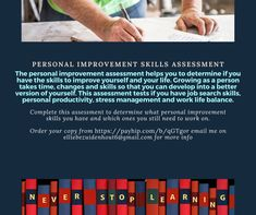 Personal improvement skills Middle Management, Senior Management, Time Management Skills, Change Management, Finding The Right Career, Business Ethics, Communication Skills, Emotional Intelligence, Find A Job