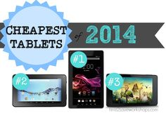 Top 3 cheapest Tablet deals for the 2014 Holiday Season!