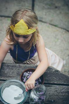 making lilac sugar in crown