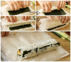 Make your own sushi rolls