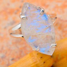 Rainbow Moonstone 925 sterling silver ring by Metamorphosis313, $49.99