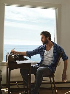 #StealHisStyle (@ Scott Speedman) by GQ  // Shirt by Gant. Tank top by Calvin Klein Underwear. Pants by Rag & Bone. Boots by Merrell. Necklace by Rogues Gallery.