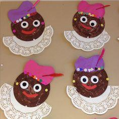Sinterklaas knutsel: Pieten van papieren bordjes en taartranden Diy For Kids, Crafts For Kids, Diy And Crafts, Arts And Crafts, Kids Daycare, Plate Crafts, Painting For Kids, Children, Safety Posters