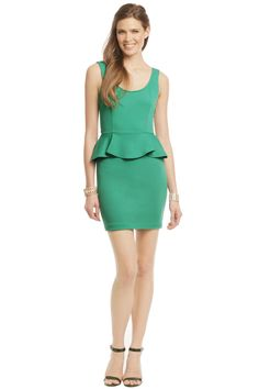 Slate & Willow Jane Dress - Look classy in this jade peplum that has a surprise cutout on the lower back!! Pair with some exciting accessories and you'll be ready to hit the town!