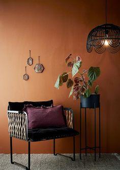 Madam Stoltz - Set Of 3 Hexagonal Hanging Glass Frames - Glass Deco Ethnic Chic, Rattan Lamp, Home Studio Music, Trendy Home, Living Room Modern, Lamp Shades, Scandinavian Style, Home Furniture, Sweet Home