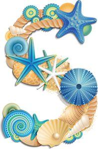Typography - Alphabet Beach Blue - Letter S Decoupage, Scrapbook Letters, Sea Crafts, Sea Art, Ocean Themes, Alphabet And Numbers, Typography Letters, Lettering Design, Painted Rocks