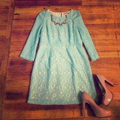 Forever 21 mint green lace dress l Size large worn once! NO TRADES OR PP Forever 21 Dresses Long Sleeve