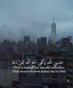 Allah is enough. A zillion times enough. Spiritual Beliefs, Islamic Teachings, Islamic Dua, Islamic World, Islam Religion, Islam Muslim, Islam Quran, True Religion, Muslim Quotes