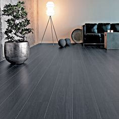 Black laminate flooring--get to do the floors at least soon... I absolutely hate carpet in kitchens!!!