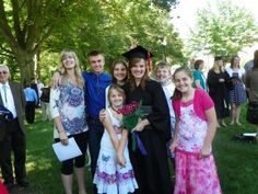 From homeschooler to college grad- surrounded by future homeschool college grads!