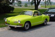 1974 VW Karmann Ghia - my dream vehicle in my new favorite color.