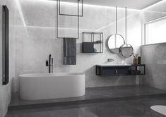 bathroom vanity and tile ideas Vintage Bathrooms, Grey Bathrooms, Beautiful Bathrooms, Minimal Bathroom, Modern Bathroom, Small Bathroom, Bad Inspiration, Bathroom Inspiration, Room Hire