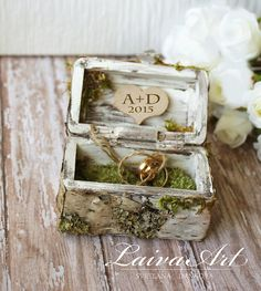 #rustic #personalized #wedding #ring #bearer #box