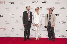 Dale Hudson, Nina Rothe and Dang Nhat Minh  - Abu Dhabi Film Festival Red Carpet