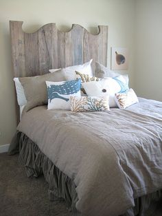 curved rustic bed