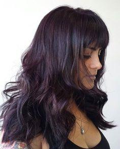 burgundy hair hue for black hair