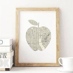New York City street map art http://www.notonthehighstreet.com/themotivatedtype/product/new-york-city-big-apple-street-map-art-print Limited edition, order now!