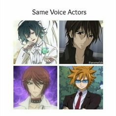 diabolik lovers, vampire knight, kamisama kiss and fairy tail