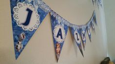 Frozen Party. Used a free online printable as my template and customized it. Used heavy cardstock for printing.