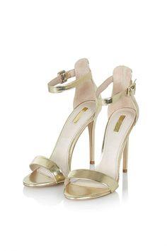 Sandales à brides dorées TopShop - Cristina Cordula