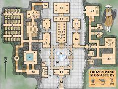 fantasy monastery map - Google Search