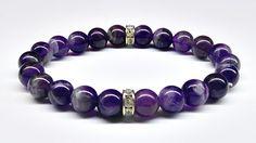 Bransoleta+Ametyst+z+przekładkami+Kamień+8+mm+w+Yeve+jewelry+na+DaWanda.com