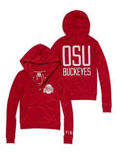 PINK NEW! Ohio State University Perfect Full Zip Hoodie #VictoriasSecret http://www.victoriassecret.com/pink/ohio-state/ohio-state-university-perfect-full-zip-hoodie-pink?ProductID=109325=OLS?cm_mmc=pinterest-_-product-_-x-_-x