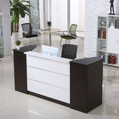 Customized wooden vintage reception desk office furniture office counter design