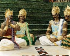 Game of dice. An Italian Painter Studied Mahabharat & Made These Breathtaking Paintings In A Span Of 12 Years
