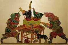 Grinding Hell, shadow puppet from Shaanxi Province, 19th century, Lin Liu-Hsin Museum