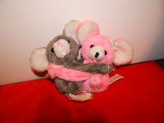 "Precious Pets vintage nwt # 931 Lovey-Dovy mice mouse stuffed plush 5.5"" 1977 #PreciousPets #AllOccasion"