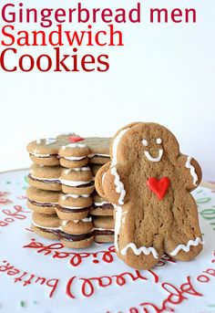 Gingerbread Men Sandwich Cookies {with marshmallow filling!} with @Suzanne Sparks {Munchkin Munchies}