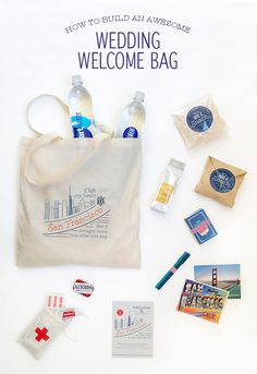 How To Build a Wedding Welcome Bag - Snippet & Ink Welcome Bags // Aisle Perfect Wedding Guest Bags, Wedding Gifts For Guests, Beach Wedding Favors, Wedding Favors Cheap, Bridal Shower Favors, Wedding Ideas, Wedding Souvenir, Nautical Wedding, Wedding Goody Bags
