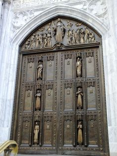 Door at St. Patrick's Cathedral in New York City.