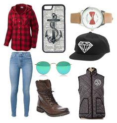 """""""Lumberjack chic"""" by fallonthompson on Polyvore"""