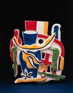 Composition au vase bleu By Fernand Léger