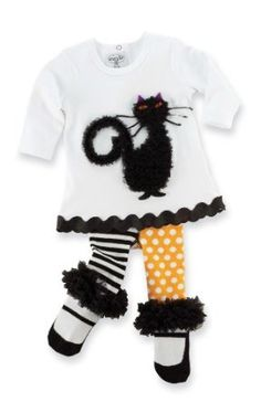 Mud Pie Baby-girls Infant Cat Tunic and Tight Set