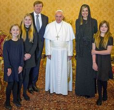 King Willem-Alexander of Netherlands and Queen Maxima of Netherlands made a special visit to the capital city of Italy, Rome. King Willem-Alexander and Queen Maxima, their daughter Princess Catharina-Amalia of Orange, Princess Alexia and Princess Ariane met with Pope Francis in Vatican.