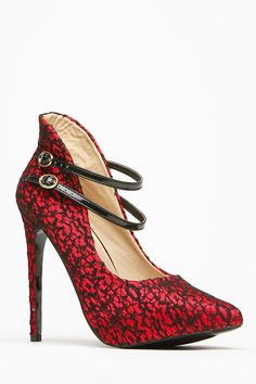 Women's Fashion High Heels :    We absolutely love everything about lace and this pair shows you why! It features black lace detailing through out entire shoe, two adjustable straps, a pointy toe cut, a hidden platform and cushioned insoles. This pair looks perfect paired with a midi... - #HighHeels https://youfashion.net/shoes/high-heels/trendy-womens-high-heels-we-absolutely-love-everything-about-lace-and-this-pair-shows-you-why-it-feature/