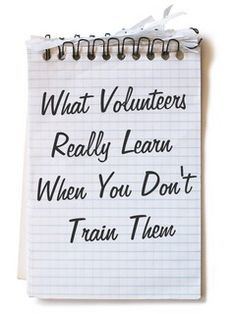 on the Kid Min site but applies to all volunteers.  Treat your volunteers like they matter and they will matter!!