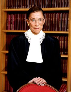 Costume inspiration - Ruth Bader Ginsburg SCOTUS portrait