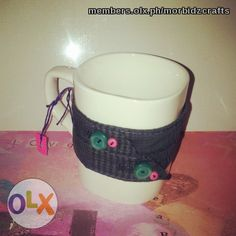 mug with plaid holder