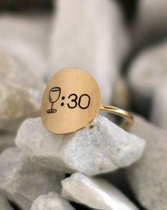 Wine Thirty Ring | Hand Stamped Ring | #ModernByMegeanContemporaryJewelry