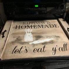 Coffee house noodle board stove cover stovetop cover   Etsy Kitchen Sink Cover, Kitchen Stove Top, Kitchen Island, Farmhouse Style Decorating, Farmhouse Kitchen Decor, Stove Board, Prayer Signs, Noodle Board, Stove Top Cover