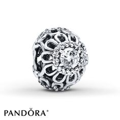 Pandora+Charm+Clear+Cubic+Zirconia+Sterling+Silver