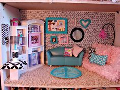 Expressions Vinyl Blog barbie house wallpaper made with patterned vinyl